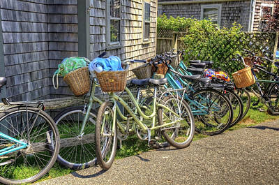 Photograph - Nantucket Bikes by Donna Doherty