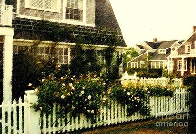 Nantucket Cottage Art Print by Desiree Paquette