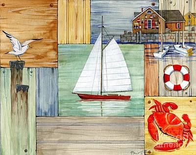 Anchors Painting - Nantucket II by Paul Brent