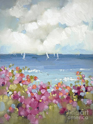 Seascape Oil Painting - Nantucket Sea Roses by Joyce Hicks