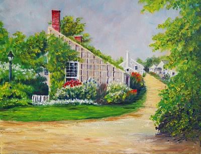 Michael Mcgrath Painting - Nantucket Street by Michael McGrath