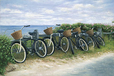 Cape Cod Painting - Nantucket Taxi Stand by Julia O'Malley-Keyes