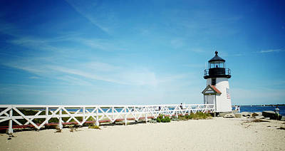Brant Point Photograph - Nantucket's Brant Point Lighthouse by Natasha Marco