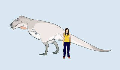 Paleozoology Photograph - Nanuqsaurus Size Comparison by Nemo Ramjet