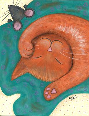 Painting - Nap Time by Carol Neal