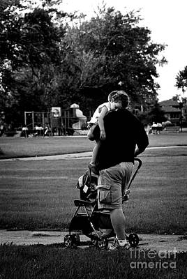 Photograph - Nap Time With Daddy In The Park by Frank J Casella