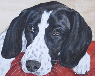 Pet Portraits Painting - Nap Time by Megan Cohen