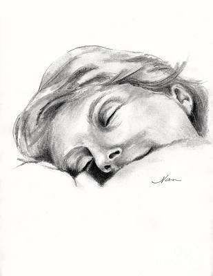 Drawing - Nap Time by Nan Wright