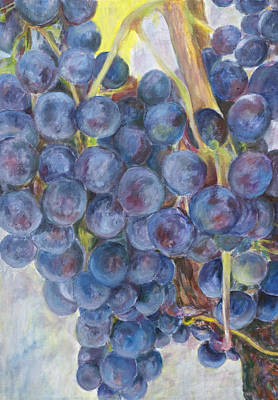 Painting - Napa Grapes 1 by Nick Vogel
