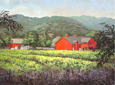 Winery Painting - Napa Morning by Joseph Carragher