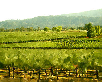 Cabernet Digital Art - Napa by Paul Tagliamonte