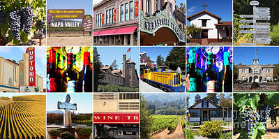 Napa Sonoma County Wine Country 20140906 Art Print by Wingsdomain Art and Photography