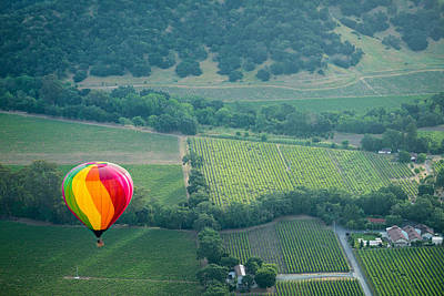 Napa Valley Aloft Print by Steve Gadomski