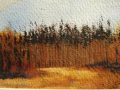 Napa Valley Fall Forest Art Print by Rebecca Lou Mudd