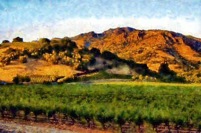 Digital Art - Napa Valley by Kaylee Mason