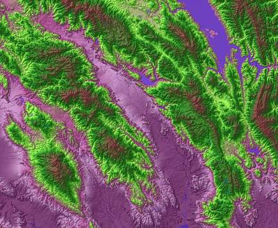 Napa Valley Map Art Art Print