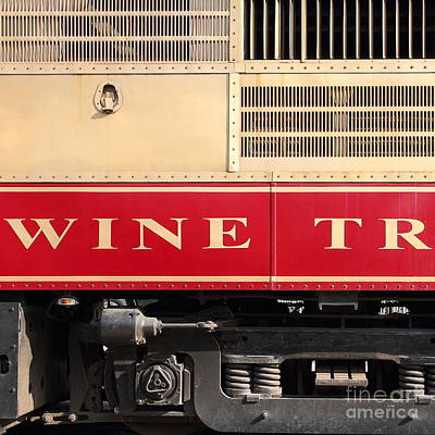 Sonoma And Napa County California Wine Country Art And Photograph - Napa Valley Railroad Wine Train In Napa California Wine Country 7d8988 Square by Wingsdomain Art and Photography