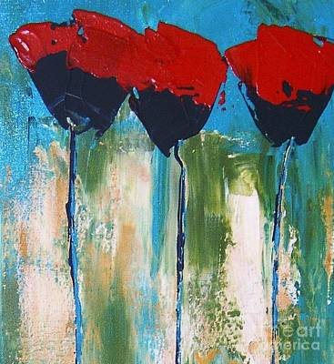 Napa Valley Red Poppys Original by Rebecca Lou Mudd