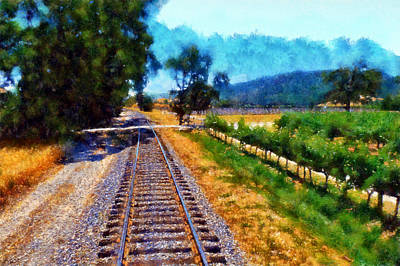 Digital Art - Napa Valley Tracks by Kaylee Mason