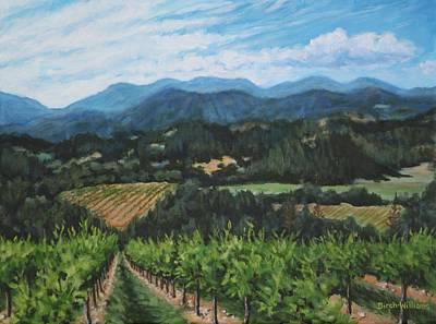 Napa Valley Vineyard Art Print by Penny Birch-Williams
