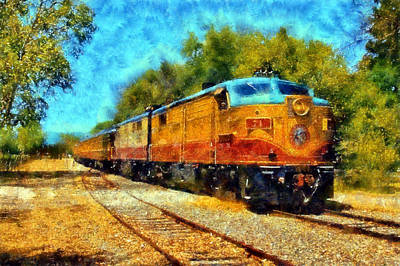 Digital Art - Napa Valley Wine Train by Kaylee Mason