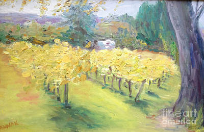 Painting - Napa Vineyard by Barbara Anna Knauf