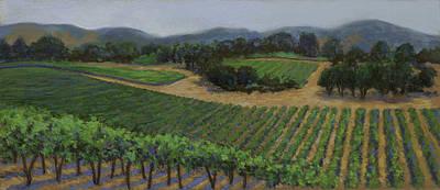 Painting - Napa Vineyard by Dena Cornett