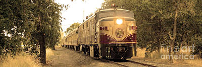 Winery Photograph - Napa Wine Train by Jon Neidert