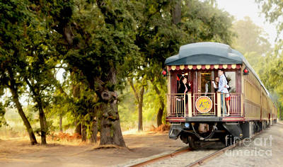 Napa Wine Train Painting Art Print by Jon Neidert