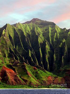 Napali Coast On Kauai  Art Print by Joseph J Stevens