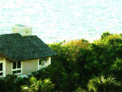 Naples Beach House Art Print