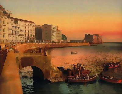 Painting - Naples Italy 1920 by Douglas MooreZart