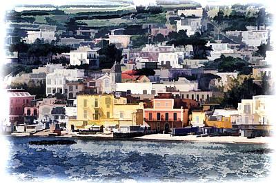 Coastal Village Photograph - Naples Italy Harbor by Jon Berghoff