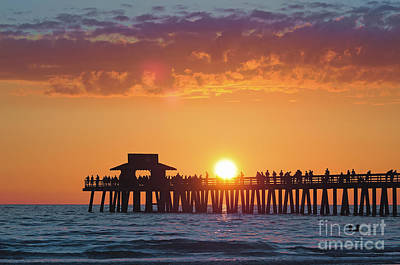 Naples Pier Dippin' Art Print by Alicia Mick