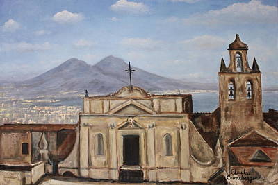 Painting - Naples View Of San Martino by Claudia Croneberger