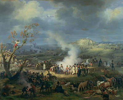 Napoleon 1769-1821 Visiting A Bivouac On The Eve Of The Battle Of Austerlitz, 1st December 1805 Art Print