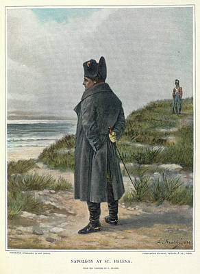 Exile Photograph - Napoleon At St. Helena by British Library
