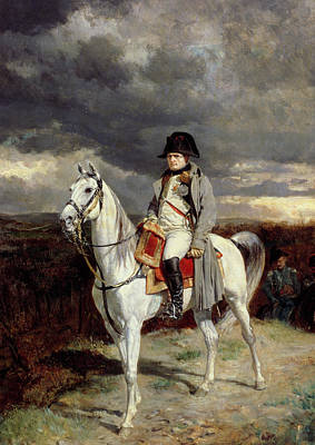 1814 Painting - Napoleon Bonaparte by Jean-Louis Ernest Meissonier