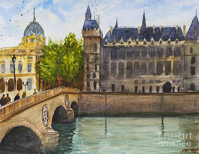 Painting - Napoleon Bridge Paris by Lior Ohayon