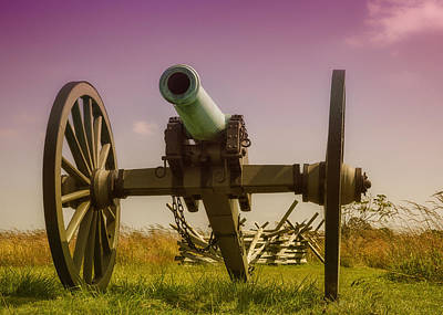Civil War Cannon Balls Photograph - Napoleon Cannon At Gettysburg by Larry Helms