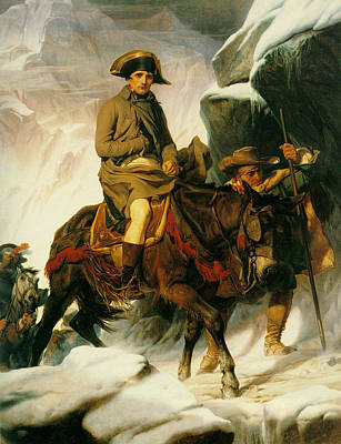 Napoleon Bonaparte Digital Art - Napoleon Crossing The Alps by Paul  Delaroche