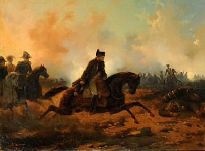 Napoleon Embarking At Waterloo Print by Hippolyte Bellange