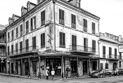 Photograph - Napoleon House In New Orleans-bw by Kathleen K Parker