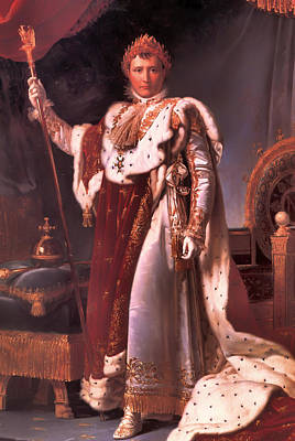 Portaits Painting - Napoleon In His Coronation Robes  by Mountain Dreams
