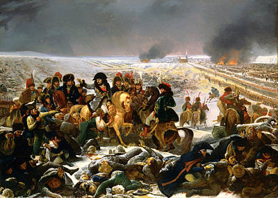 Prussia Painting - Napoleon On The Battlefield Of Eylau by Mountain Dreams
