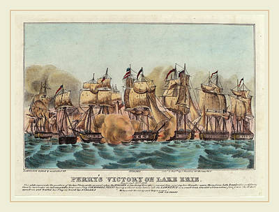 Lake Erie Drawing - Napoleon Sarony, Perrys Victory On Lake Erie by Litz Collection
