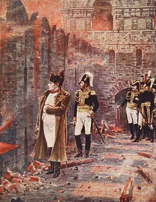 Napoleon Watching The Fire Of Moscow Art Print by Nikolai Stepanovich Vereshchagin