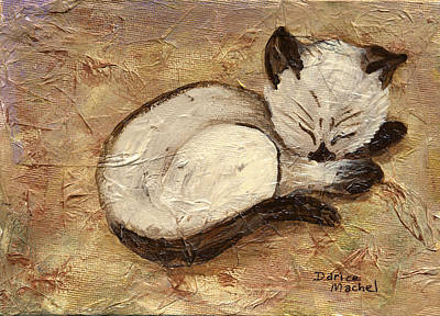 Napping Kitty Art Print