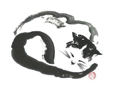Napping Neko Art Print