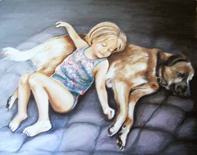 Painting - Napping Together by Martha Suhocke